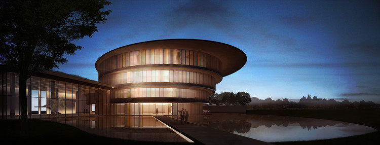 Tadao Ando Unveils Images of the He Art Museum, Under-Construction in Southern China, Architectural Rendering of HEM