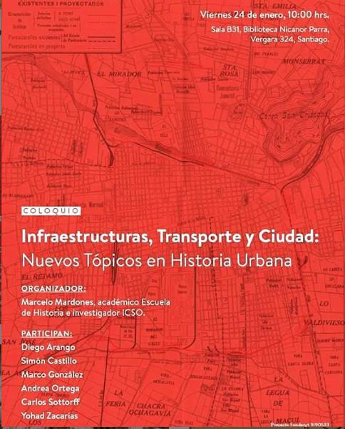 """Coloquio """"Infraestructuras, transporte y ciudad: nuevos tópicos en Historia Urbana"""""""