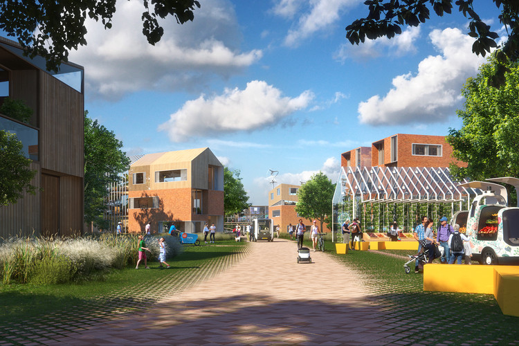 UNSense Develops an Adaptive Neighborhood of 100 Homes, part of UNStudio Brainport Smart District Master Plan, Courtesy of UNSense