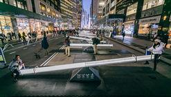 Intervención lúdica de diseño urbano invita a detenerse y jugar en Nueva York
