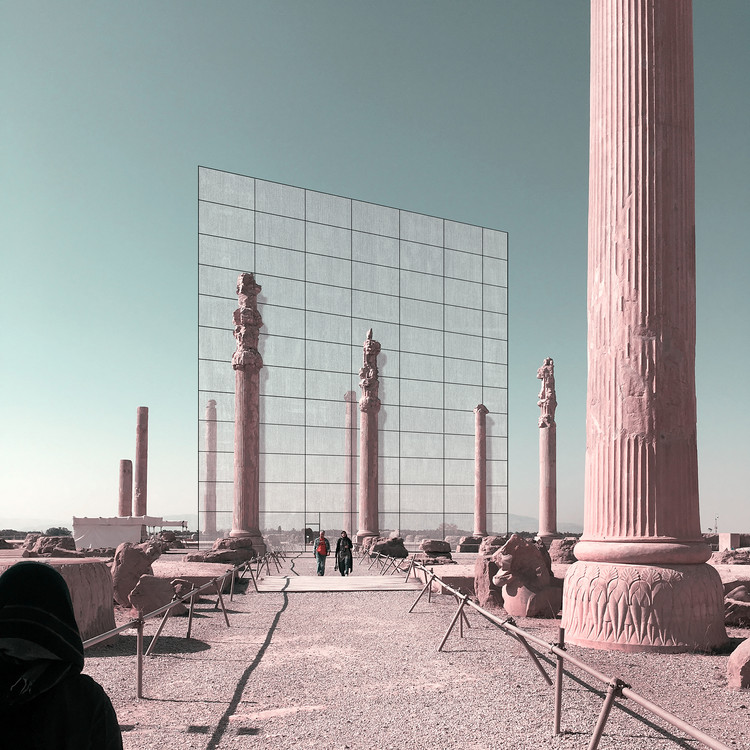 Iran S Cultural Site Persepolis Reimagined Through Minimalist Frames Archdaily