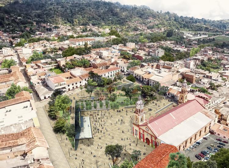 Cómo será la renovación de la plaza principal del municipio de Vélez, Santander, Cortesía de In Situ urbanismo hecho a mano