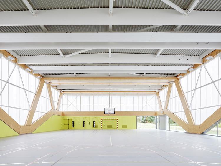 Nathalie Mauclair Gymnasium / SCHEMAA. Imagem © David Foessel