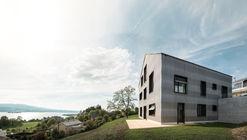 瑞士木屋,V型木柱支撐結構 / AERO Architekten