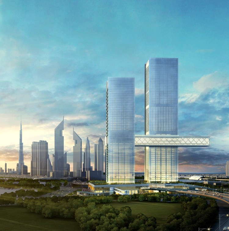 Dubai's Under Construction One Za'abeel Tower Holds the Longest Cantilever in the World, Courtesy of Ithra Dubai