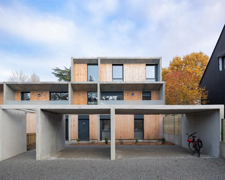 6 Social Housing Units / Atelier 56S, © François Dantart