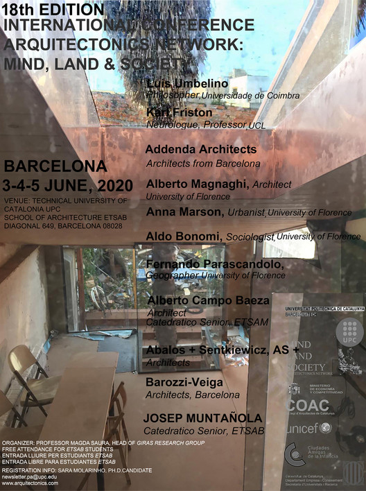 18th International Conference Arquitectonics: Mind, Land, and Society