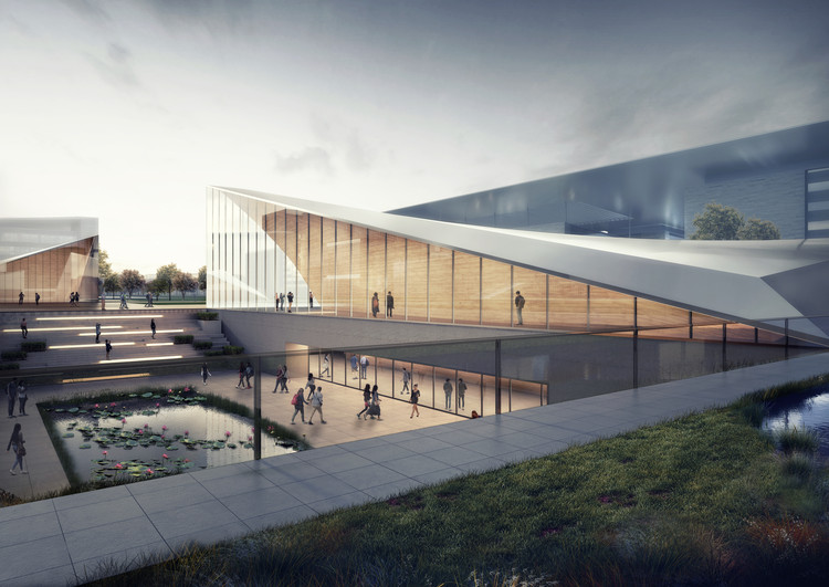 HENN Designs Sino-French Aeronautics Campus in China, Courtesy of HENN