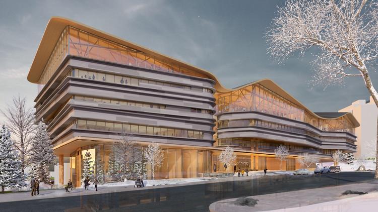 渥太华公共图书馆与档案馆方案公布, Courtesy of Diamond Schmitt Architects