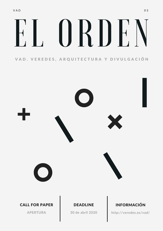 Call for Papers para 'VAD 03: El Orden'