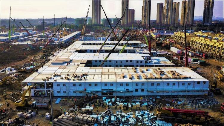 为抗击武汉新型冠状病毒,中国在十天内建成火神山医院, Courtesy of CGTN