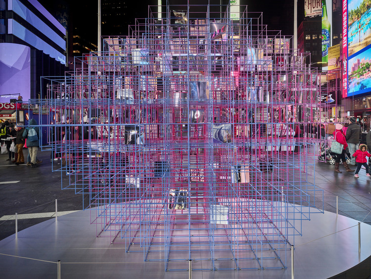Heart Squared Installation, Designed by MODU and Eric Forman, Opens in Times Square, © Frank Oudeman/OTTO