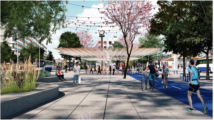 Redes peatonales para Antofagasta: Proyectos de diseño urbano en el norte de Chile, Eje Cerro Mar Maipú – Mall Plaza | Archipiélago SPA