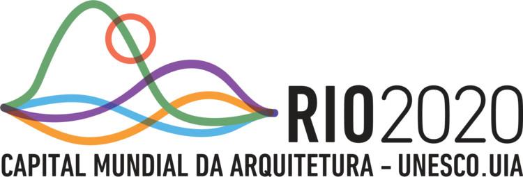 Rio de Janeiro convida todos a fazerem parte do Rio Capital Mundial da Arquitetura Unesco.UIA, Logomarca do Rio Capital Mundial da Arquitetura Unesco.UIA