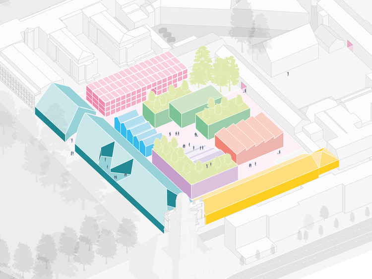 MVRDV vence concurso para o plano diretor do novo distrito criativo de Potsdam, © MVRDV