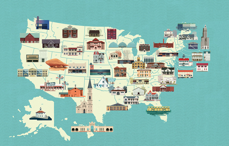 An Illustrated Tribute to the Most Threatened Buildings in the United States, © NetCredit