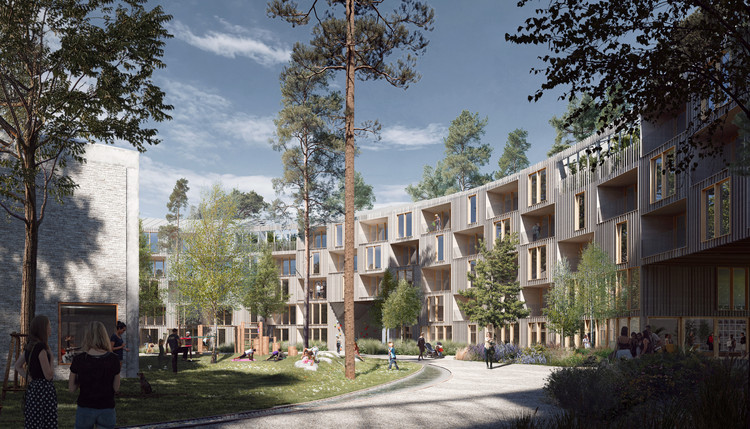 Schauman & Nordgren Architects Won a Competition to Design a Housing Block in the Finnish Forest, Courtesy of Schauman & Nordgren Architects