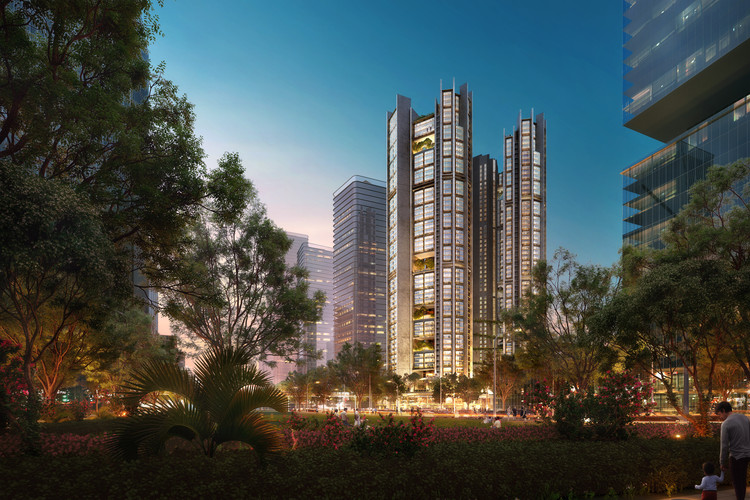 Foster + Partners Design Modular Residential Towers for Shenzhen, Talent's Apartment. Image Courtesy of Foster + Partners