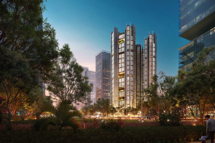 福斯特建筑事务所将在深圳前海建造模块化人才公寓, Talent's Apartment. Image Courtesy of Foster + Partners