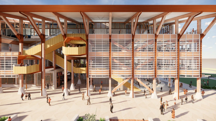 Five Firms Design Western Australia's First Large-Scale Timber Building, Courtesy of Lyons Architecture, Officer Woods, The Fulcrum Agency, STH and Aspect Studios