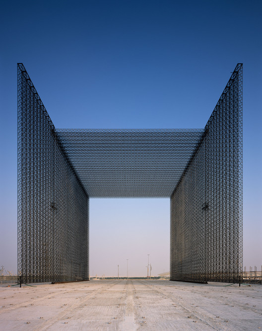 "Asif Khan Imagines the Expo 2020 Dubai ""Mashrabiya"" Entry Portals, © Helene Binet"