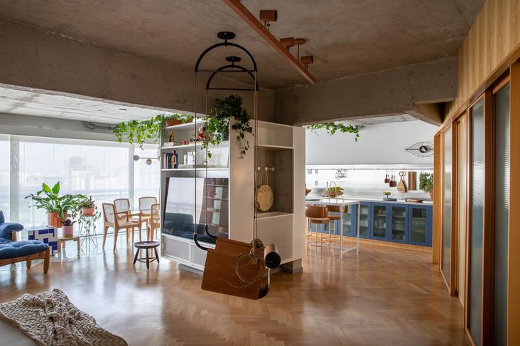 Apartamento BW / vapor arquitetura + Renata Gaia Arquitetura, © Lufe Gomes