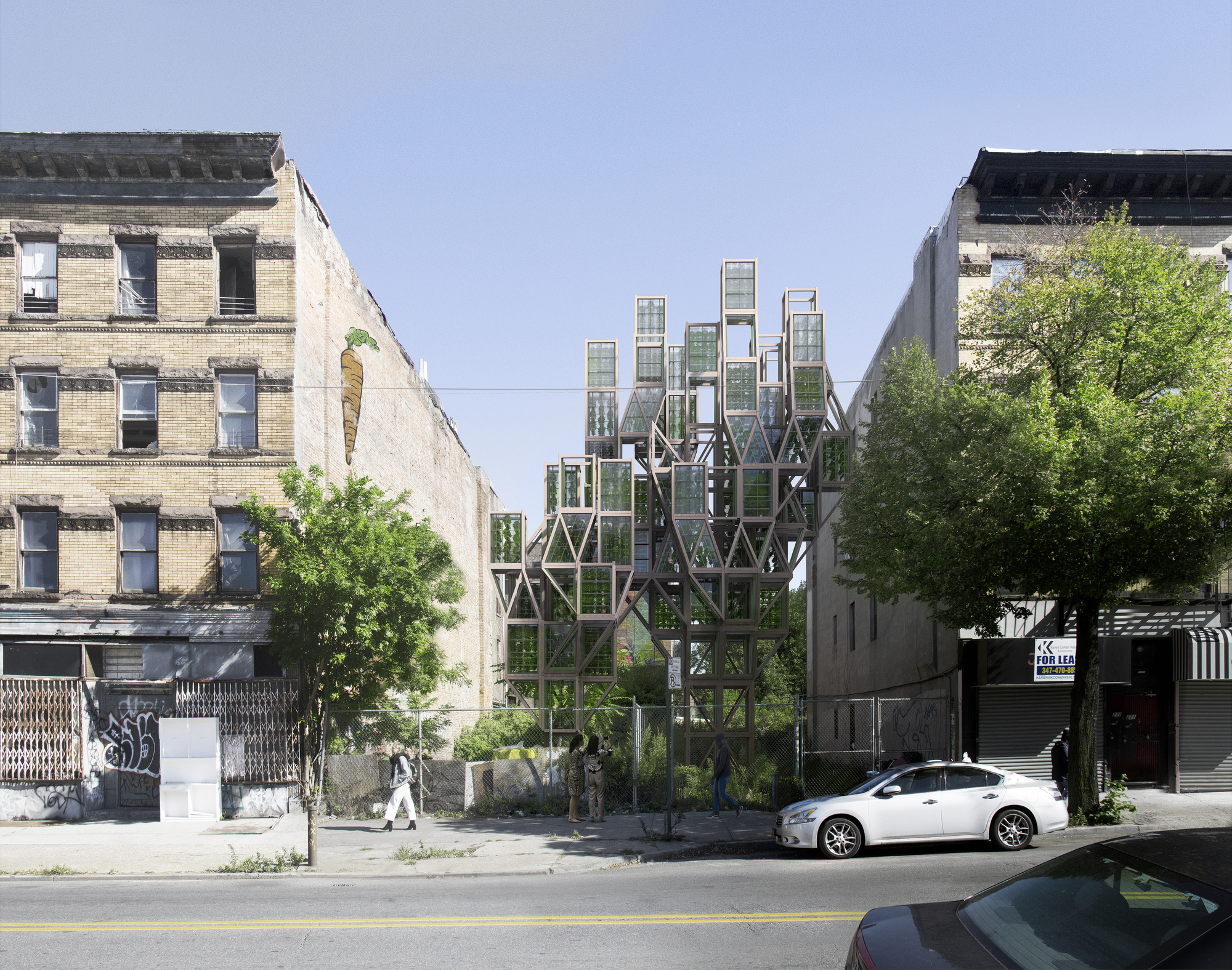 Framlab Imagines Modular Vertical Urban Farms on the Streets of Brooklyn