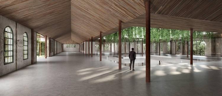Exposição de Anish Kapoor inaugurará espaço cultural da Cidade Matarazzo em São Paulo, Projeção da sala Bradesco Aqui, da Casa Bradesco da Criatividade, que deve ser inaugurada em São Paulo, na região da Avenida Paulista, em 2021. Foto: Divulgação