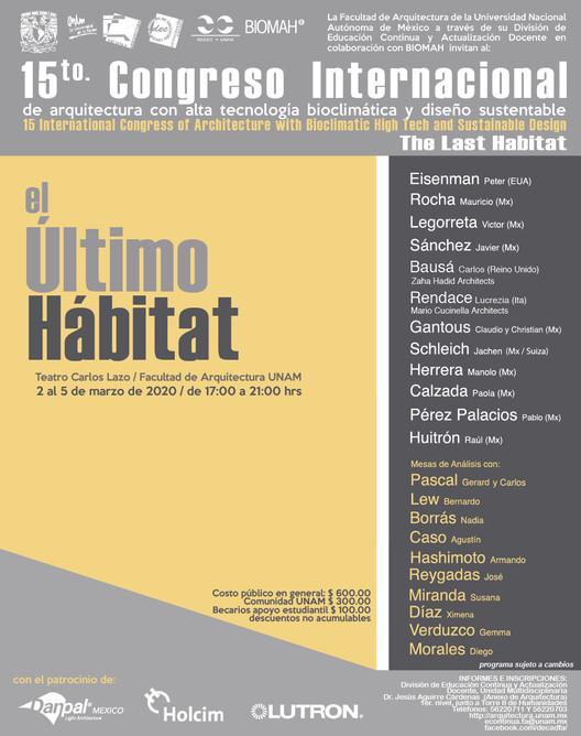 15to. Congreso Internacional de Arquitectura con Alta Tecnología  Bioclimática y Diseño Sustentable 2020