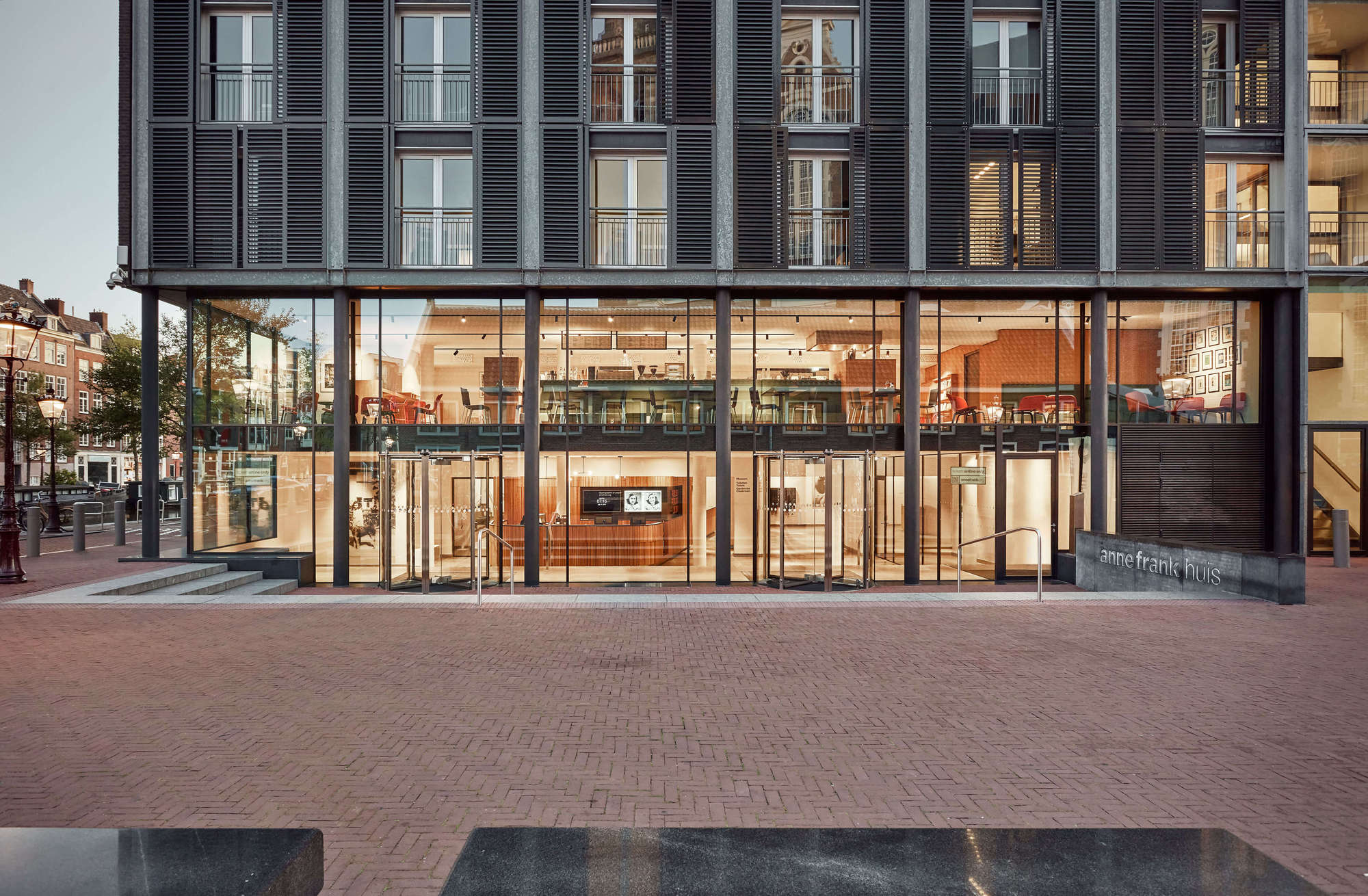 Anne Frank House Museum Cafe Namelok Archdaily