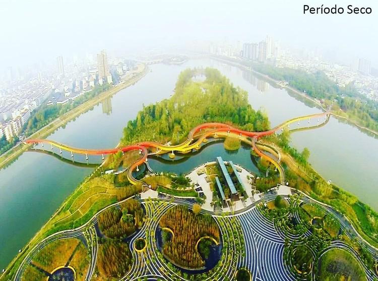 Curso de Projeto Urbano de Infraestrutura Verde, Parque Yanweizhou, cidade de Jinhua, China. Fonte: Turenscape (https://www.turenscape.com/en)