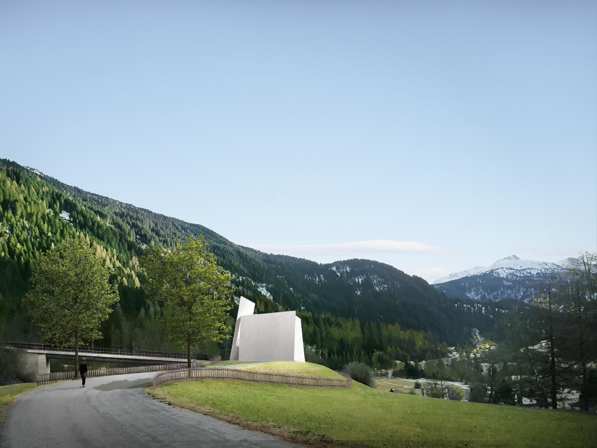 Herzog & de Meuron Unveil New Motorway Chapel for Switzerland