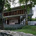 02.1  View of the Villa from the rearside garden - Pia's Villa / MMGS ARCHITECTS: Biệt thự hiện đại trên đồi với không gian thoáng tự nhiên