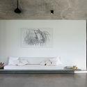 03.1  Feature wall with built in seat in living dining area  facing the Madu river - Pia's Villa / MMGS ARCHITECTS: Biệt thự hiện đại trên đồi với không gian thoáng tự nhiên