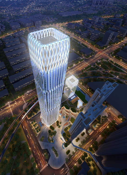 Goettsch Partners Creates New Central Gathering Hub and Landmark Tower in Guangzhou, China, Courtesy of Goettsch Partners