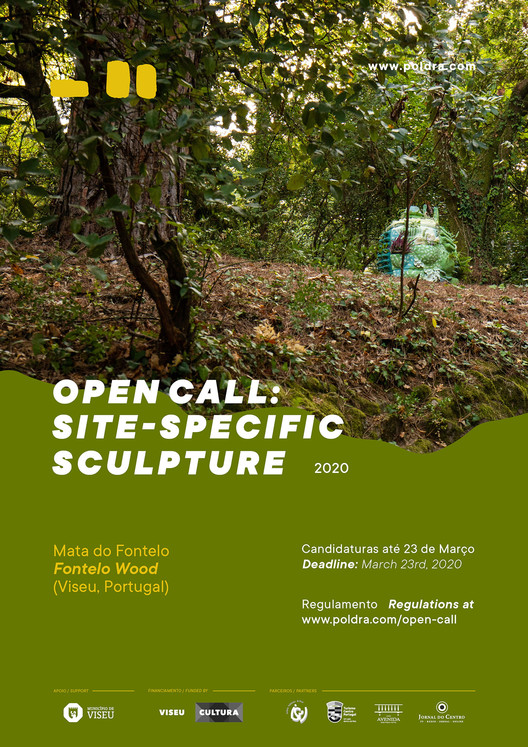Call for Submissions: Poldra Site-specific Sculpture, Open Call. POLDRA Poster.