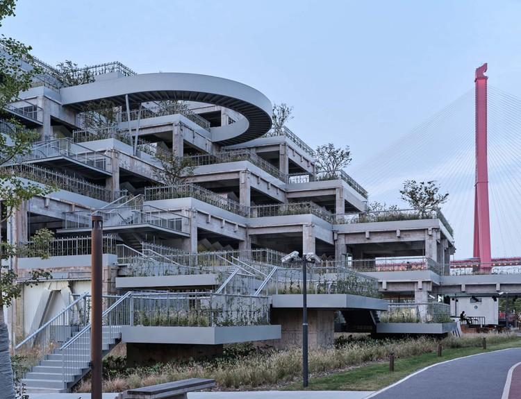 Green Hill Yangpu Riverside / TJAD Original Design Studio, sistema de estructura industrial. Imagen © ZY Architectural Photography