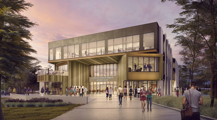 Construction Begins on HED's Fresno State Student Union, Lynda and Stewart Resnick Student Union. Image Courtesy of HED