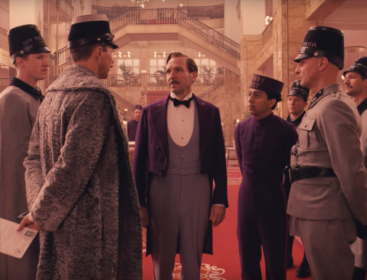 """The Grand Budapest Hotel"" lobby. Screenshot"