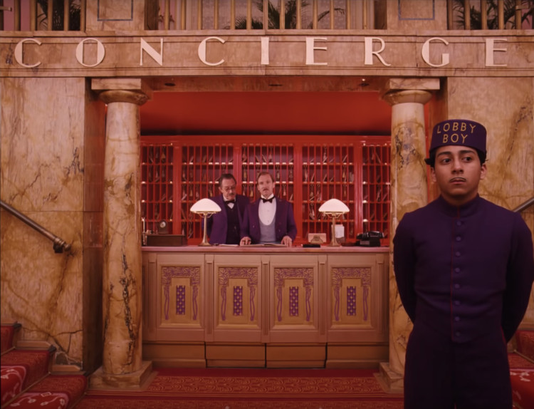 """The Grand Budapest Hotel"". Screenshot"