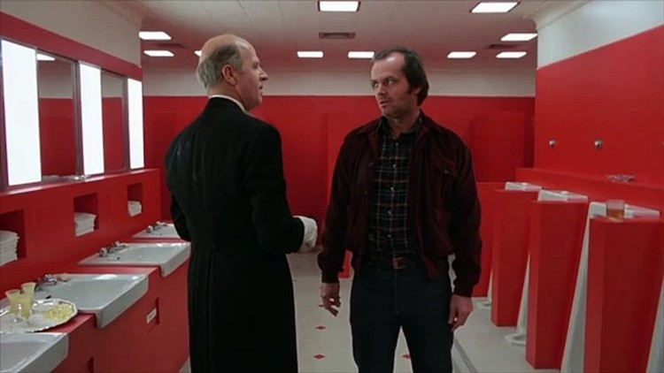 "Imaginary spaces fruits of hallucinations from Jack Torrance in ""The Shining"". Screenshot"
