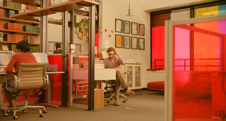"Theodore's office in ""Her"". Screenshot"