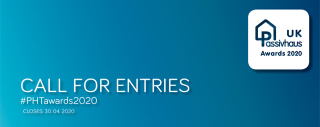 Call for Entries: 2020 UK Passivhaus Awards , 2020 UK Passivhaus Awards