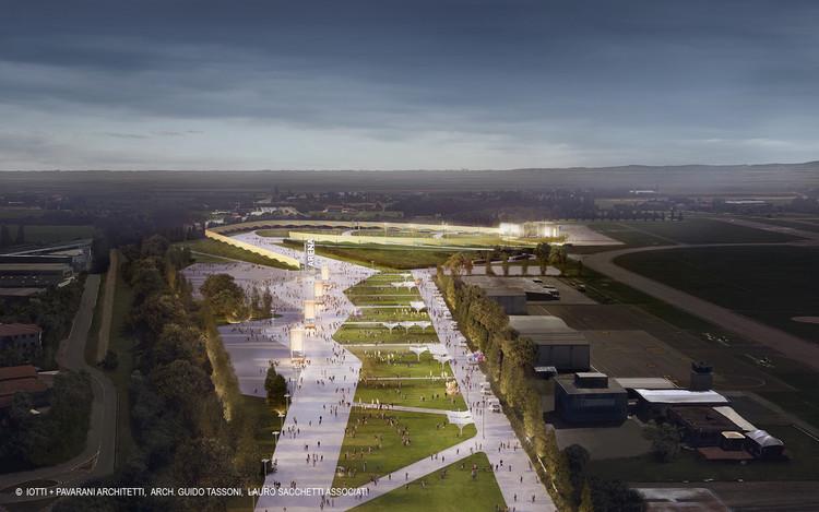 La estructura de conciertos al aire libre más grande de Europa entra en su fase final de construcción, © Iotti+Pavarani, Tassoni, LSA