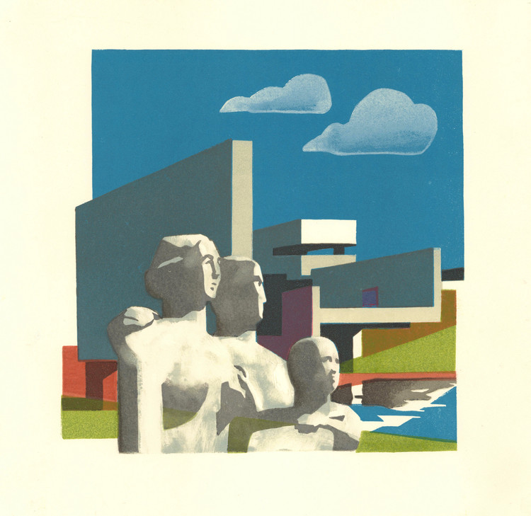 Sent from Coventry: Linocuts by Paul Catherall, New Towns, linocut, 2019.