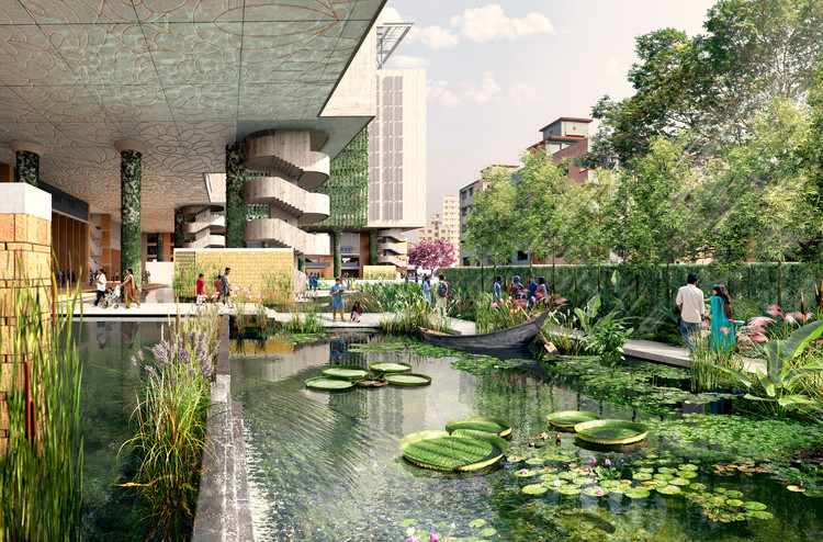 WOHA Releases New Renderings of Sustainable Inner-City Campus and Public Park in Dhaka, Bangladesh, Courtesy of WOHA