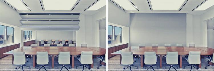Skyfold: paredes retráctiles plegables, verticales y acústicas. Image Courtesy of dormakaba