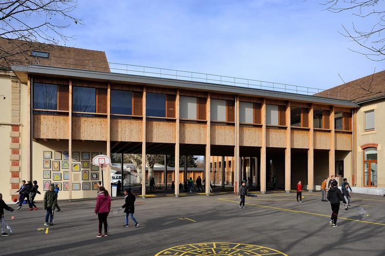 Elementary School at Le Grand Lemps France / Brenas Doucerain Architectes, © Studio Erick Saillet