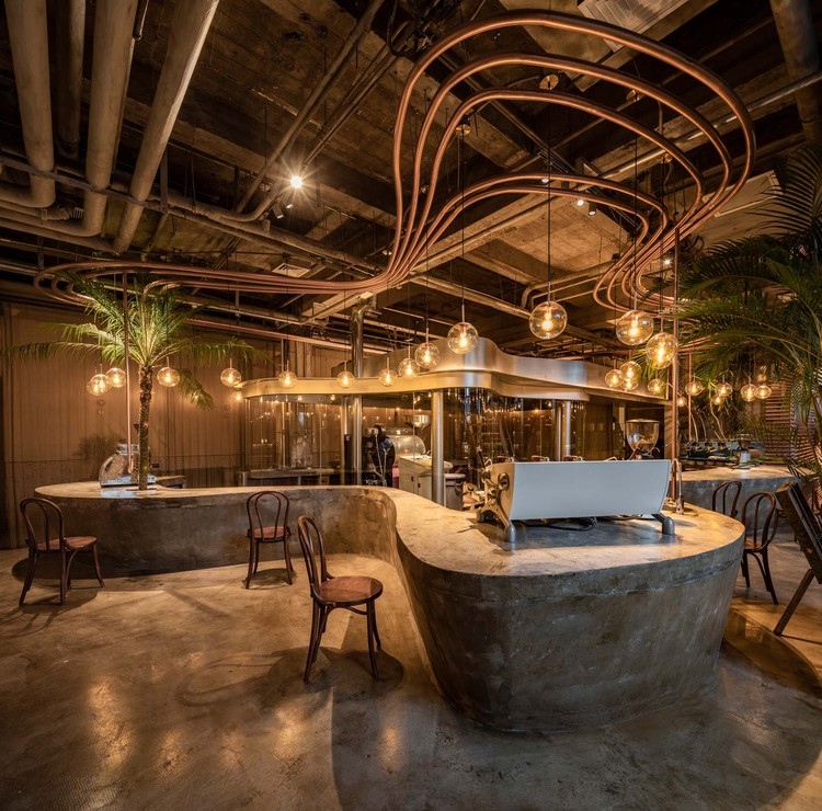 Metal Hands Coffee Renovation Linkchance Architects Archdaily