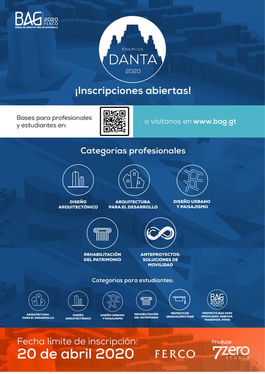 Premios Danta - Bienal de Arquitectura de Guatemala 2020, Cortesía de Bienal de Arquitectura de Guatemala - BAG